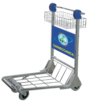 baggage trolley with active brake system